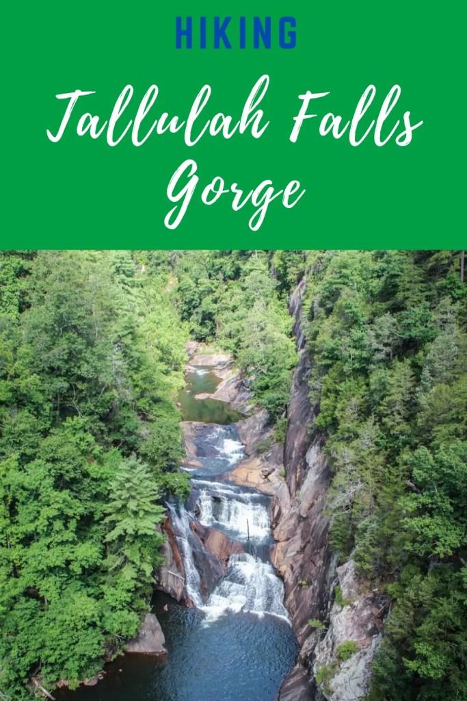 hiking in tallulah gorge pin