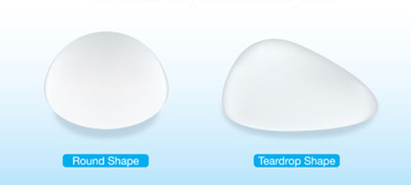 what are tear drop breast implants