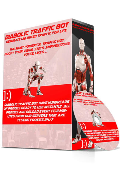 Diabolic Traffic Bot Full Edition Premium Lifetime Cracked + Dr.FarFar Proxy Tools 2018 + Gifts + Private Mobiles User Agents