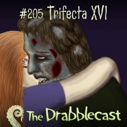 Cover for Drabblecast episode 205, Trifecta 216, by Georgia Warley Cummings