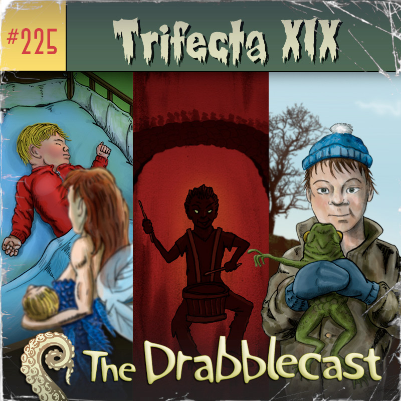 Cover for Drabblecast episode 225, Trifecta XIX, by Steve Santiago