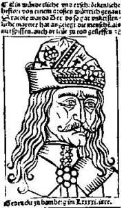 Transylvanian Saxon engraving from 1462 depicting Vlad Țepeș