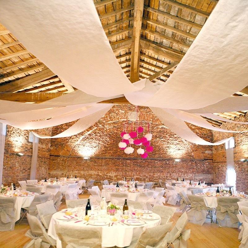 grande tenture 50 metres blanche pour mariage