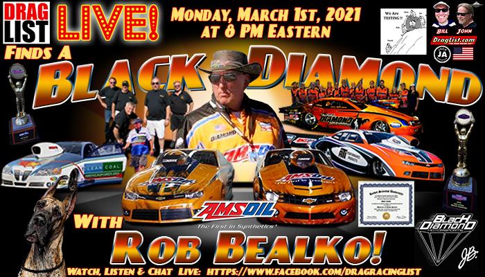 Draglist LIVE: Rob Bealko on March 1st!