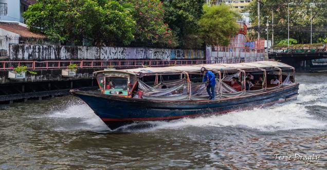 Public transportation in Bangkok.