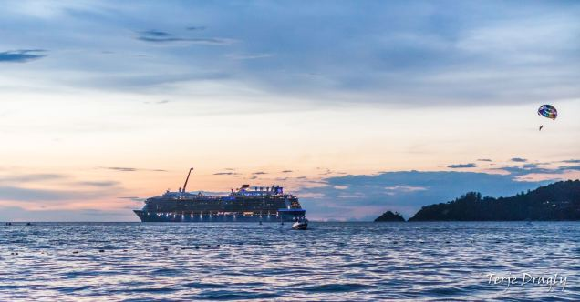 Cruise ship in Patong Bay