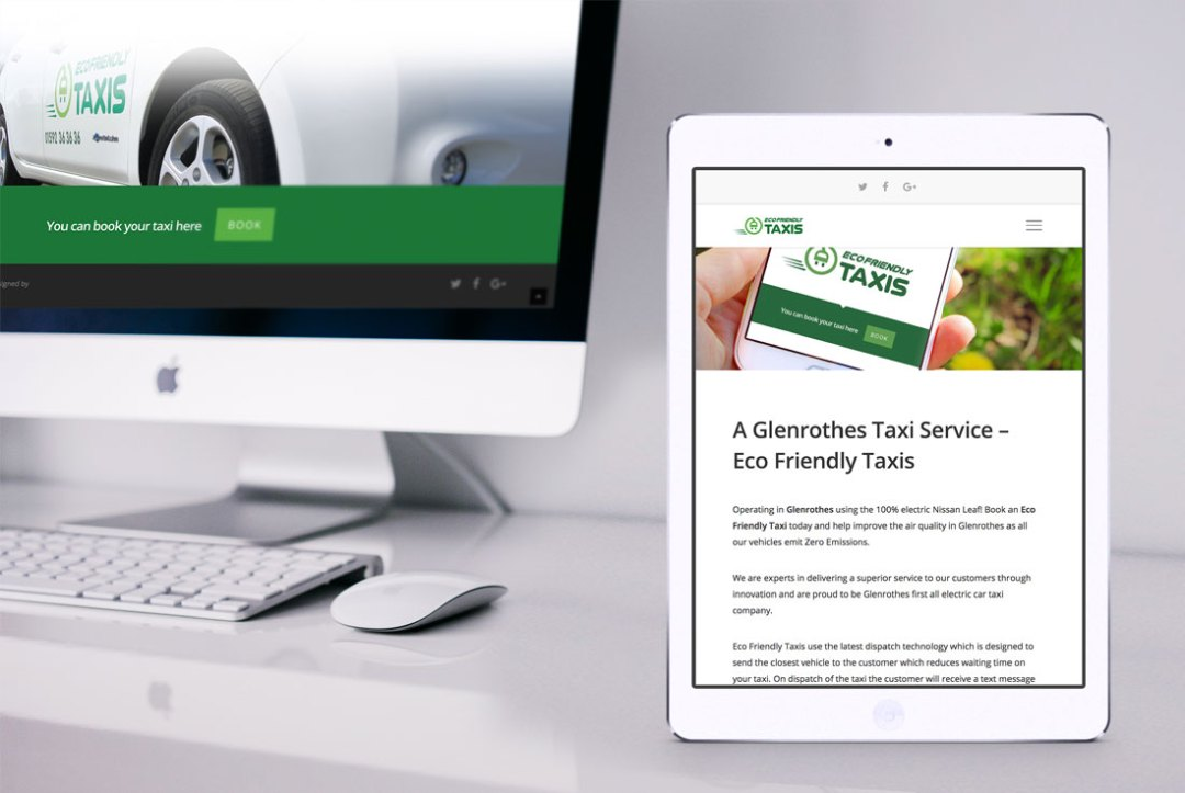 Eco Friendly Taxis Branding & Website