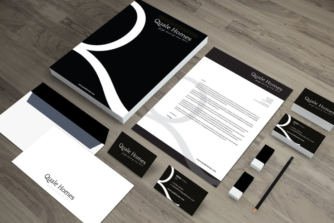 Quale Homes Logo & Stationery Design