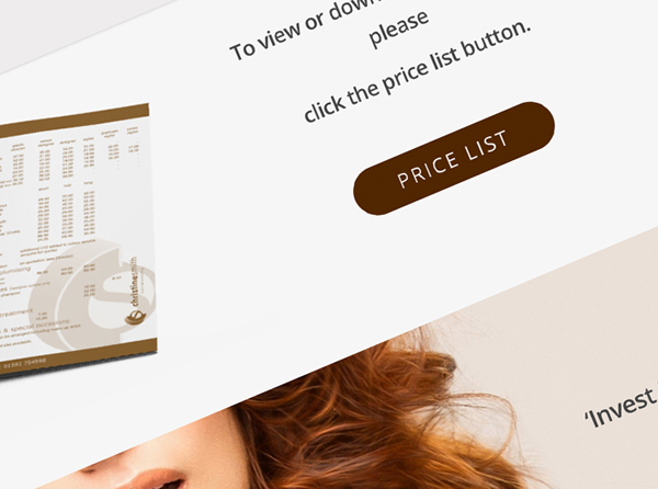 Christine Smith Hairdressing Website