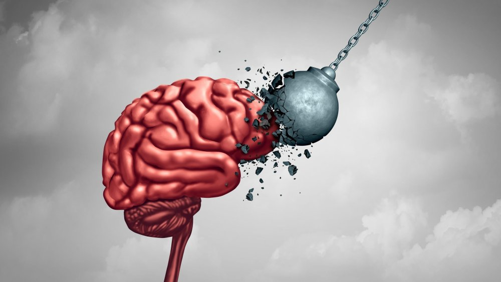 Mental strength and mind toughness as a brain power neurology psychology or psychiatry concept as a memory health or intelligence symbol with 3D illustration elements.