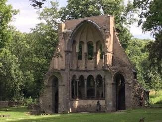 Ruina del coro medieval, Monasterio de Heisterbach, Siebengebirge, Königswinter
