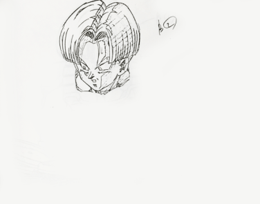 Trunks - douga key animation tête 3
