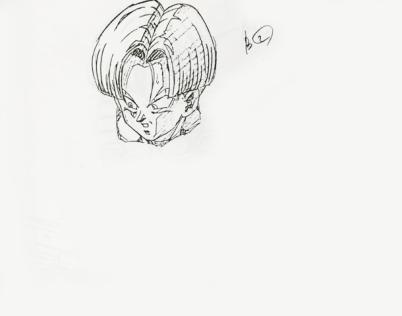 Trunks - douga key animation tête 3