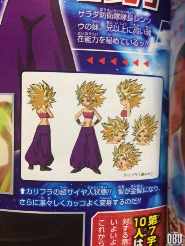 Character Design de Caulifla Super Saiyan