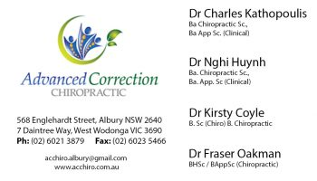 AC Chiropractic business card number 2