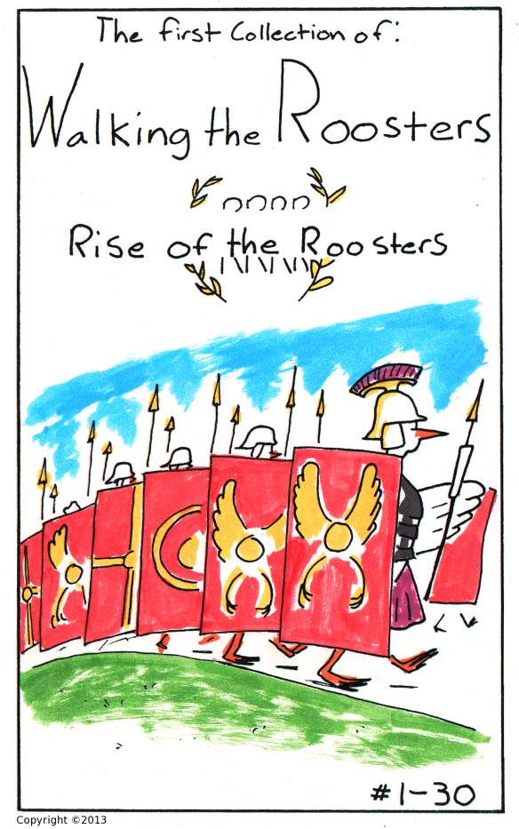 walking the roosters front cover 1 color