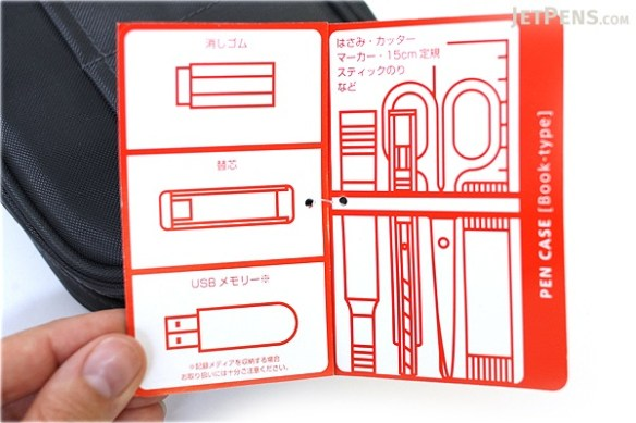 """Photos from Jetpens.com http://www.jetpens.com/Lihit-Lab-Teffa-Pen-Case-Book-Style-Black/pd/7665  I just had to include a photo of the """"booklet"""" and I originally couldn't find mine."""