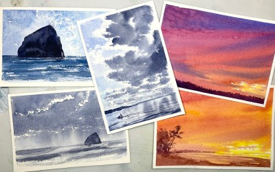 Watercolor Postcard Club (More Sessions Added!)