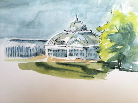 Third sketch of conservatory buildings.