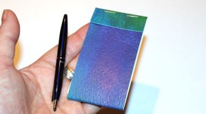 Small matchbook-style journal.