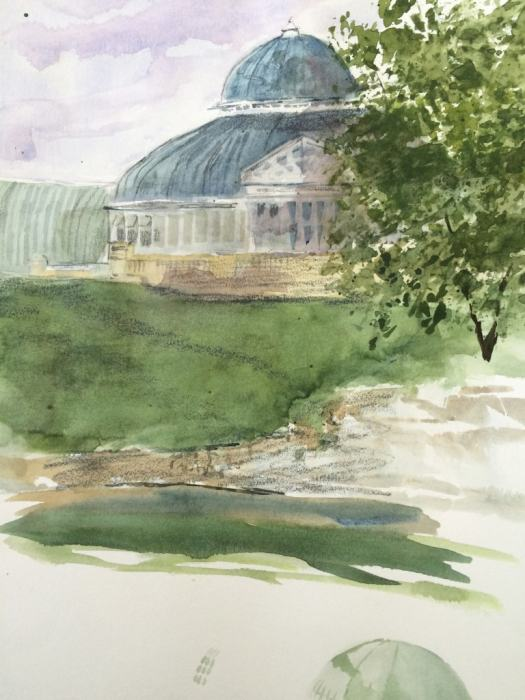 Yesterday's demo sketch of the conservatory building.