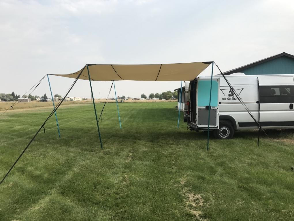 Dragon Wing Van Custom Kitchen Tarp