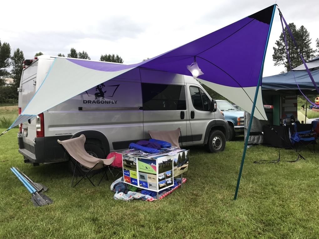 Custom One Pole Van Tarp