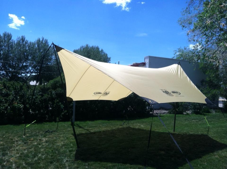 Custom Tarp - Tan with Gray