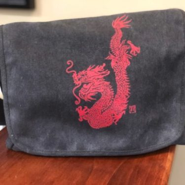 dragon messenger bag