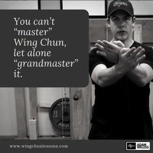 You Can't Master Wing Chun