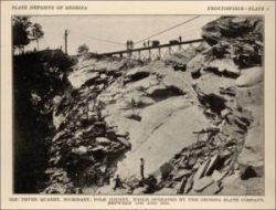 Slate mining in Rockmart in the 1800s.