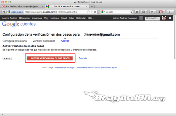 Configurar Gmail Seguro 6 Configurar GMail de forma segura