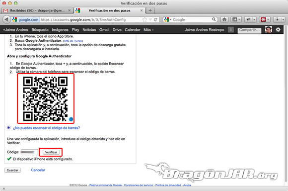 Configurar Gmail Seguro 8 Configurar GMail de forma segura