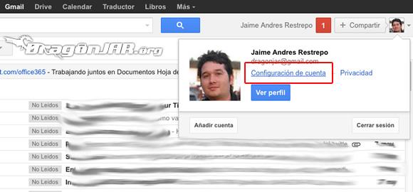 Configurar Gmail Seguro Configurar GMail de forma segura