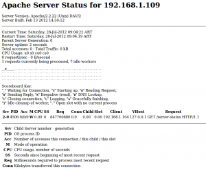 Screenshot Apache Normal Status 109 Mozilla Firefox 1 300x247 DDoS Análisis de Ataques Coordinados