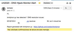 11 300x133 Monitorización para evitar el hijacking DNS