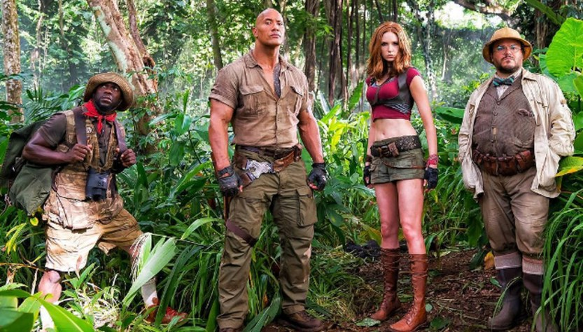 image of the cast of Jumanji 2