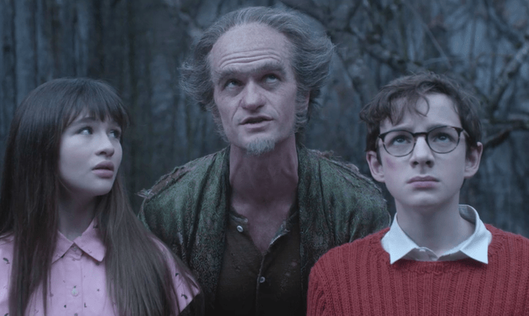 image of a characters from the netflix version of a series of unfortunate events