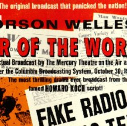 image of old newspaper with orson wells' war of the worlds under fire by critics