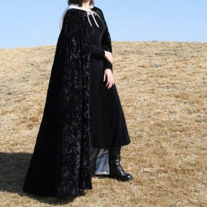 Black Full Length Cloak