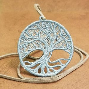 Necklace Tree of Life Baby Blue