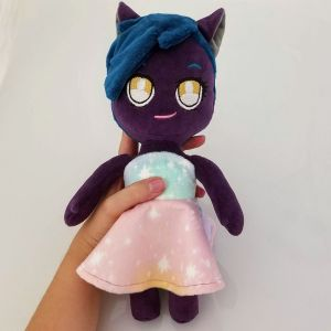 Limited-Anthro-Doll-Purple-Skin-Dark-Teal-Mowak-with-Pastel-Ombre-Dress-Held