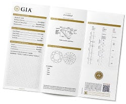 Sample GIA diamond certification report