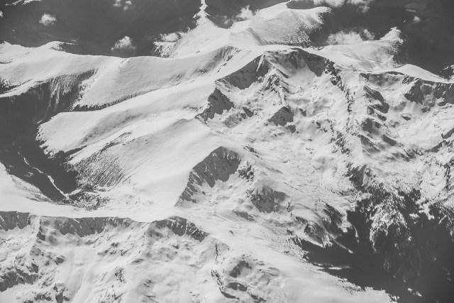 Carpații Meridionali fotografiați din avion la final de iarnă 5