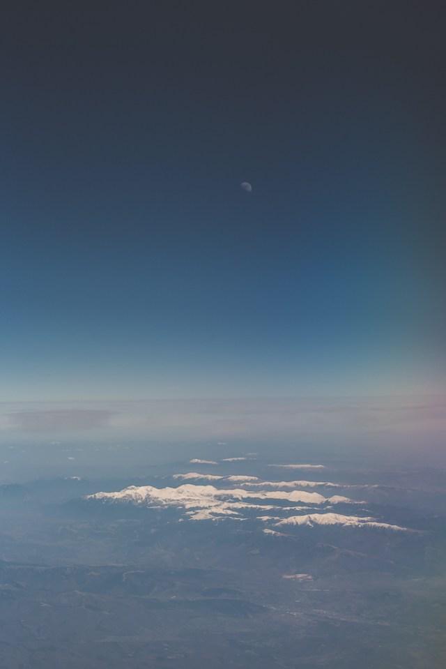 Carpații Meridionali fotografiați din avion la final de iarnă 9