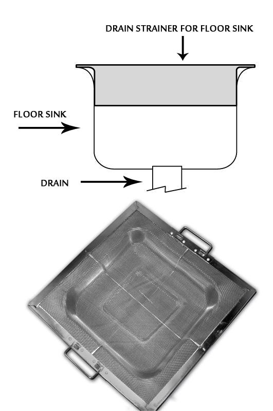 stainless steel drain strainer fine mesh w flange for 8 5 square floor sink