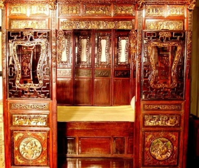 Chinese Canopy Alcove Bed