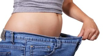 blog picture of woman's jeans are too large for her now