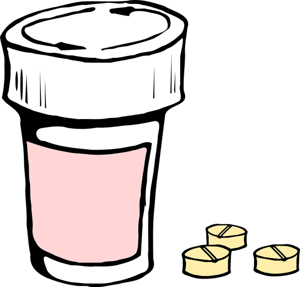 blog illustration of pill bottle and pills