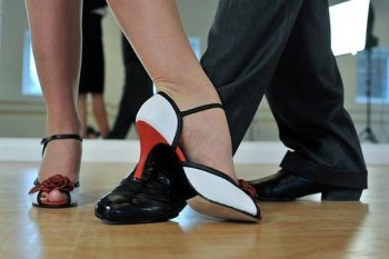 blog picture of couple's feet while dancing